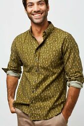 United By Blue Menand039s Elkridge Button Down Shirt Rainfall Olive Mens Size Large