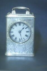 Vintage Sterling Silver Carriage Clock 1902 Goodnow And Jenks Boston Ma.