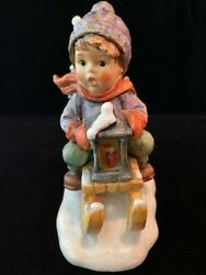 Ride Into Christmas Hummel Figurine 396 Excellent Condition - Signed