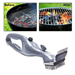 Barbeque Bbq Grill Cleaning Brush Stainless Steel Scraper Tool Long Bristle