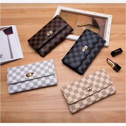 New Fashion Clutch Women Long Leather Wallet Card Hold Phone Bags Handbag Purse $12.34