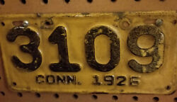 1926 Connecticut Motorcycle License Plate  All Original A Real Beauty