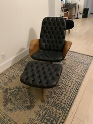 George Mulhauser For Plycraft Lounge Chair And Ottoman