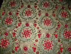 Kravet Couture Mulberry Diva Embroidered Floral Silk Fabric 9 Yards Gold Multi