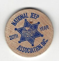 1980 Elko Co Nevada Search And Rescue Nat. Jeep Assoc Convention Wooden Nickel
