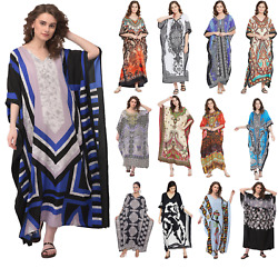 Women#x27;s Summer Boho Casual Long Sundress Maxi Evening Party Kaftan Beach Dress