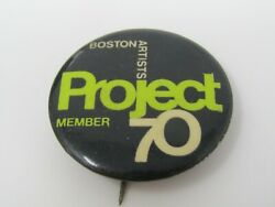Boston Artists Project 70 Member Pin Button