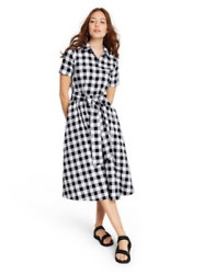 Womenand039s Gingham Button-front Shirtdress-lisa Marie Fernandez-various Sizes-s588+