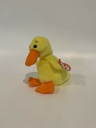 Quackers The Duck Ty Beanie Baby With Pvc Pellets And Errors