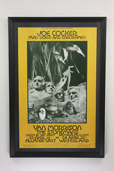 Vtg Bill Graham Bg 229 Op-1 Joe Cocker Van Morrison Singer Poster