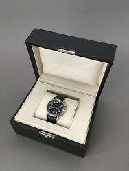 Men's And Co. Black Ct60 42mm Chronograph Watch Steel Case Alligator