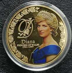 1961-1997 Uk Diana Princess Of Wales 5 Pounds Dia 40mm +free 1coind9613