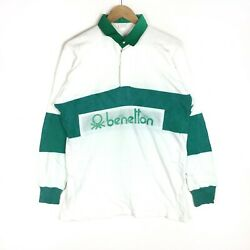Vintage Benetton United Colors Rugby Polo Sports Stripes Big Spell Out T-shirts