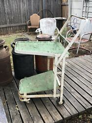 Antique Iron Old Time Grocery Shopping Cart As Is