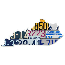 Kentucky License Plate Map Cut Sign The Blue Grass State License Plates Sign