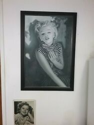 Marilyn Monroe 23 1/2x35 1/2 Original On Canvas Painting Signed By Artist