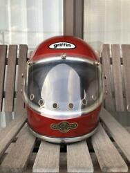 Vintage Full-face Helmet Griffin Cd Clubman Original Red Size M Motorcycle