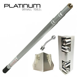 Platinum Drywall Corner Roller And Glazer Kit With 3-8 Ft Extendable Handle