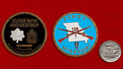 Challenge Coin. 1st Battalion Light Infantry, Missouri National Guard Army