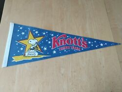 Vintage 1980's Rare Knott's Berry Farm Pennant W/ Star Snoopy From Peanuts