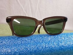 Vintage COOL RAY°POLAROID °110 sunglasses 48□20 brown frame Green Lenses $39.00