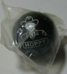 Vintage Original Hopalong Cassidy Hoppy Black Glass Marble Cowboy New In Package