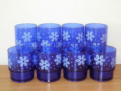 Tupperware 10 Oz./14oz. Acrylic Deluxe Tumblers Set8excellent Used Cond