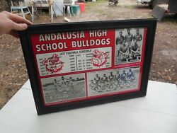 Vintage Andalusia Alabama High School Bulldogs 1977 Football Team Picture Photo
