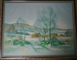 Hilda Chancellor Pope Signed Limited Edition Watercolor Print 30/266 27x21