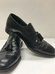 Stafford Mens Leather Shoes Size 9 C/a Wing Tip Tassel Loafer Comfort Plus