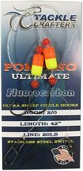 Pompano Rigs Fluorocarbon - Saltwater Fishing Gear Surf Leaders Hooks 12 Pack