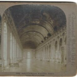 1900, Gallery Of Mirrors, Versailles Palace, France, Art Nouveau Stereoview
