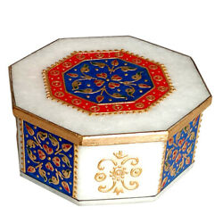 Marble Trinket Box Jewellery Boxes Decorative Collectibles Artifacts Arts India