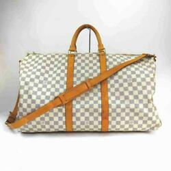 Louis Vuitton Damier Azur Keepall Bandouliere 55 With Strap 860315