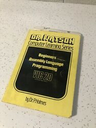 Dr Watson Computer Learning Series Vic 20 By Dr Holmes