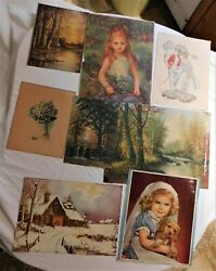 Eight Large Vintage Prints Not Reproductions But Actually Vintage