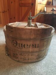 Early 1900's The Queen Knoll Antique Wood Washing Machine Steampunk Reading Pa