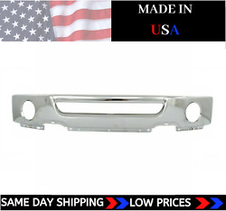 New Usa Made Chrome Front Bumper With Fogs For 2006-2008 Ford F150 Ships Today