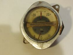 Vintage Rare 1936 Chevy Car Or Truck Ampere Oil Gauge Combination Collectible