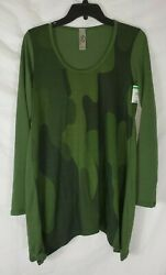 Go Couture Nordstrom Women#x27;s Green Pullover Knit Sweater Large New with Tags $18.98