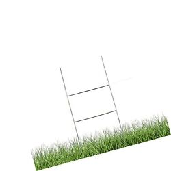 Mtb H Frame Wire Stakes 20 X10-inch Pkg Of 25 9ga Metal -yard Sign Stakes F...