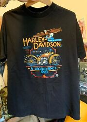 Vintage 80s Harley Davidson Factory And Museum Tour York, Pa Motorcycle T Shirt.