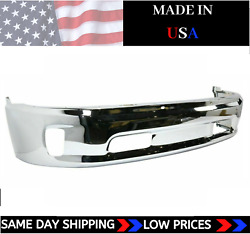 New Usa Made Chrome Front Bumper For 2013-2018 Ram 1500 Ch1002396 Ships Today