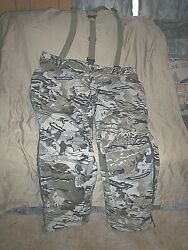 Mens 3x Camo Pants Insulated Hunting Pants Cold Weather Camo Pants + Suspenders