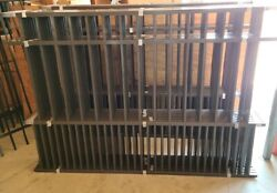 Aluminum Fence Panels Puppy Picket Style, 48 In Tall 6 Ft Wide Bronze Panels