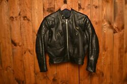 Lewis Leathers Aviakit Phantom 1970andrsquos Cafe Racer Motorcycle Leather Jacket 42-l