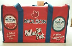 Canadian Molson Beer Chiller 36 Pack Cooler Tote New Never Used