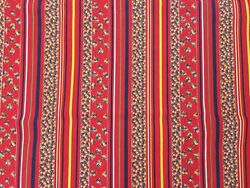 Vintage upholstery fabric red cotton 1 yd x45quot;