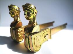 Pair French Shutter Stoppers Chateaux Hardware Stopper Holder Window Door Catch