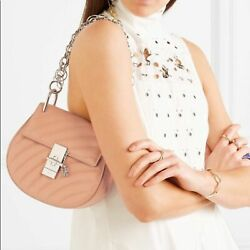 Mini Drew Pink Leather Made In Italy Bag